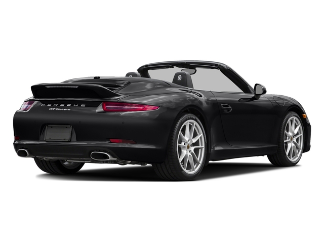 Black 2015 Porsche 911 Pictures 911 Cabriolet 2D H6 photos rear view
