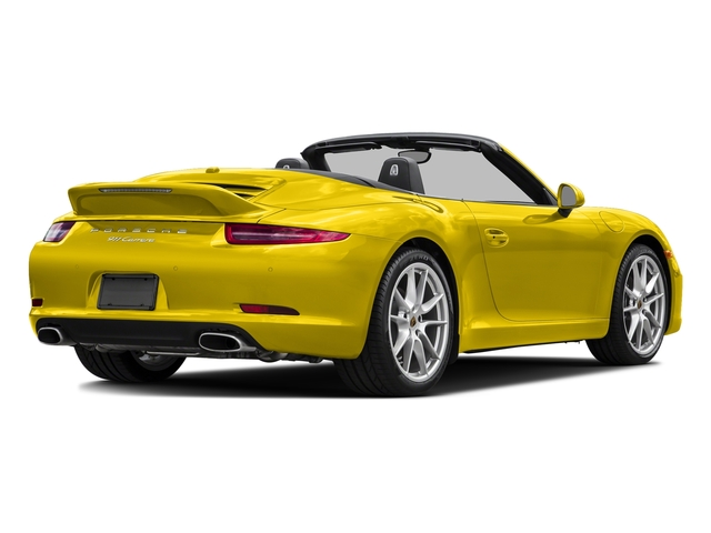 Racing Yellow 2015 Porsche 911 Pictures 911 Cabriolet 2D H6 photos rear view