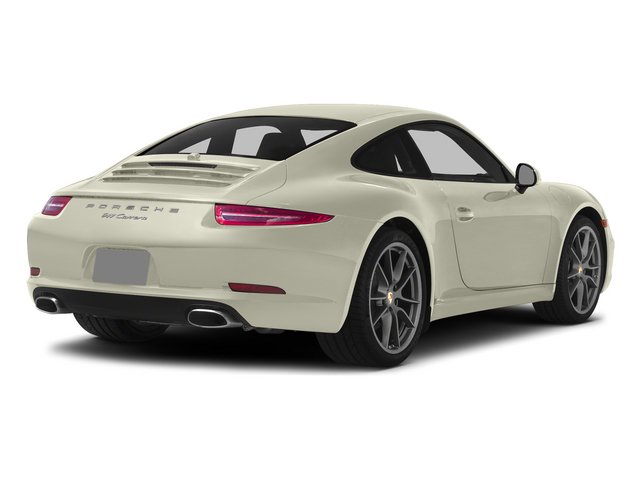 Carrara White Metallic 2015 Porsche 911 Pictures 911 Coupe 2D 4 AWD H6 photos rear view
