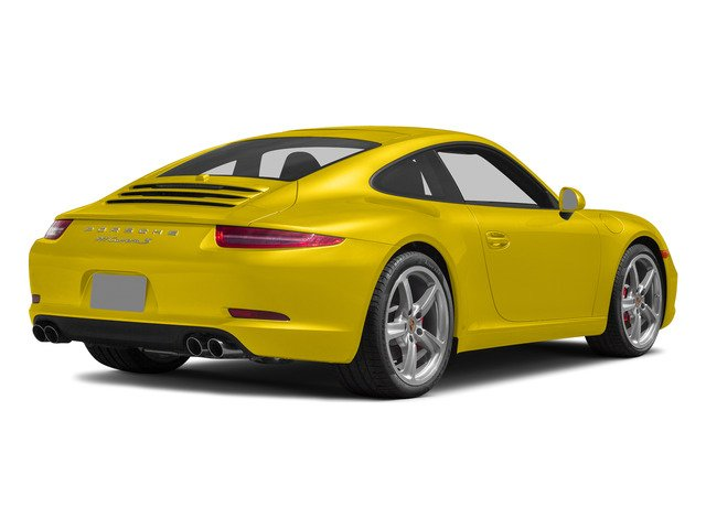 Racing Yellow 2015 Porsche 911 Pictures 911 Coupe 2D S H6 photos rear view