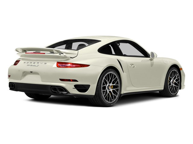 Carrara White Metallic 2015 Porsche 911 Pictures 911 Coupe 2D Turbo S AWD H6 photos rear view