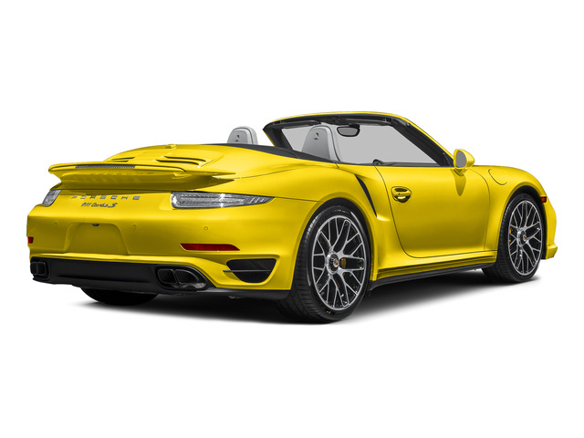 Racing Yellow 2015 Porsche 911 Pictures 911 Cabriolet 2D S AWD H6 Turbo photos rear view