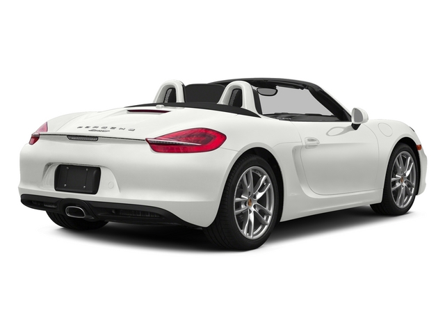 White 2015 Porsche Boxster Pictures Boxster Roadster 2D H6 photos rear view