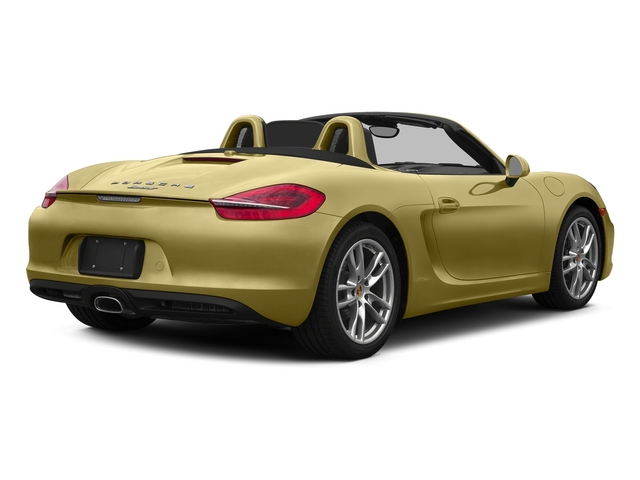 Lime Gold Metallic 2015 Porsche Boxster Pictures Boxster Roadster 2D H6 photos rear view