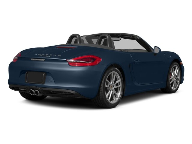 Dark Blue Metallic 2015 Porsche Boxster Pictures Boxster Roadster 2D GTS H6 photos rear view