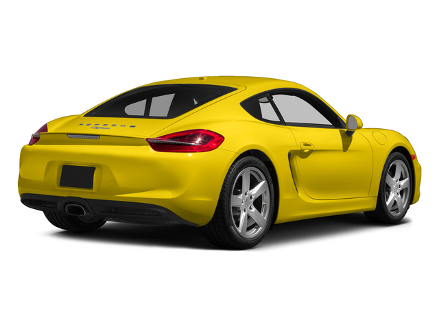 Racing Yellow 2015 Porsche Cayman Pictures Cayman Coupe 2D H6 photos rear view