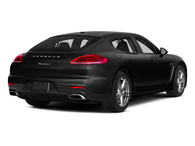 Jet Black Metallic 2015 Porsche Panamera Pictures Panamera Hatchback 4D 4 AWD H6 photos rear view