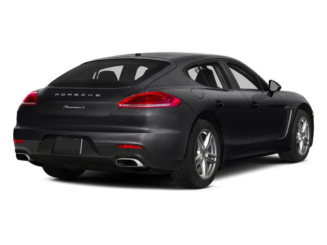 Black 2015 Porsche Panamera Pictures Panamera Hatchback 4D 4 AWD H6 photos rear view