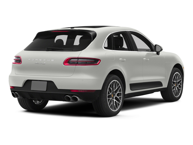 White 2015 Porsche Macan Pictures Macan Utility 4D AWD V6 Turbo photos rear view