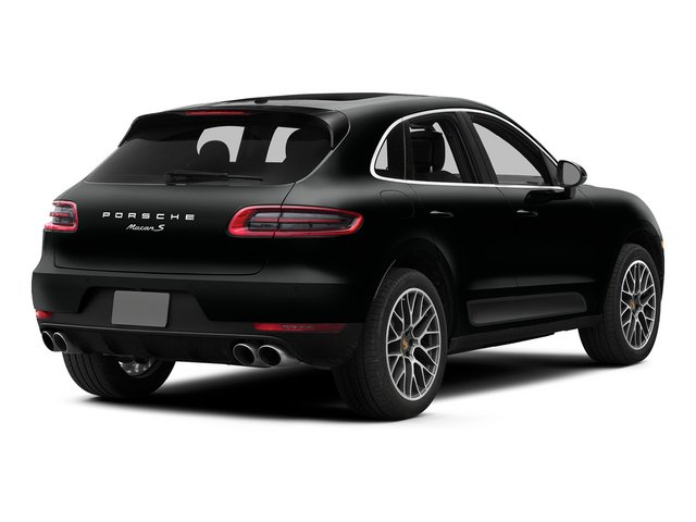 Jet Black Metallic 2015 Porsche Macan Pictures Macan Utility 4D AWD V6 Turbo photos rear view