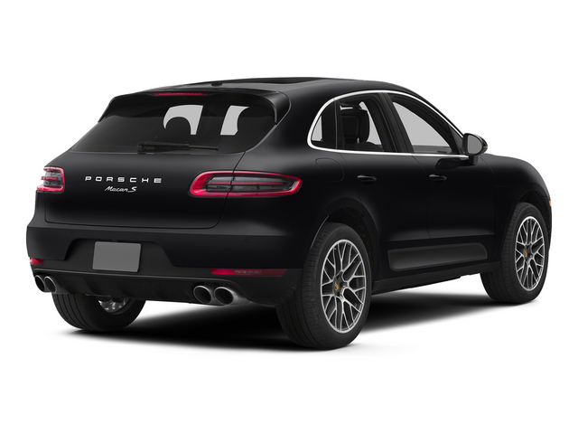 Black 2015 Porsche Macan Pictures Macan Utility 4D AWD V6 Turbo photos rear view