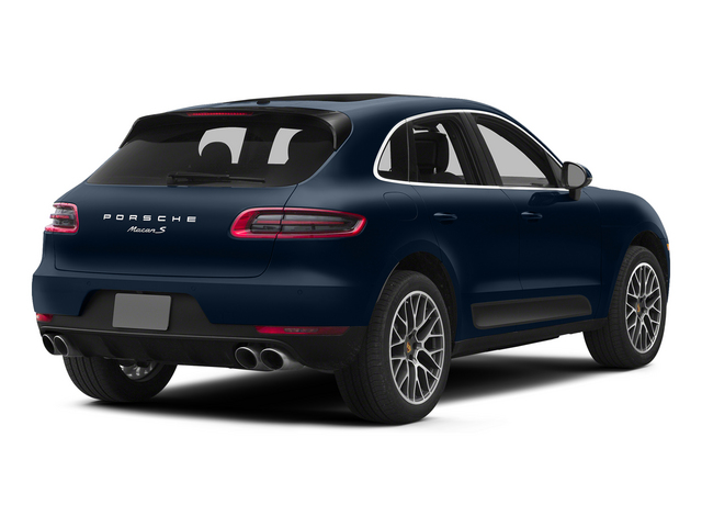 Dark Blue Metallic 2015 Porsche Macan Pictures Macan Utility 4D AWD V6 Turbo photos rear view