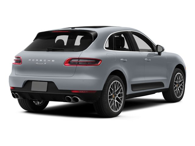 Rhodium Silver Metallic 2015 Porsche Macan Pictures Macan Utility 4D AWD V6 Turbo photos rear view