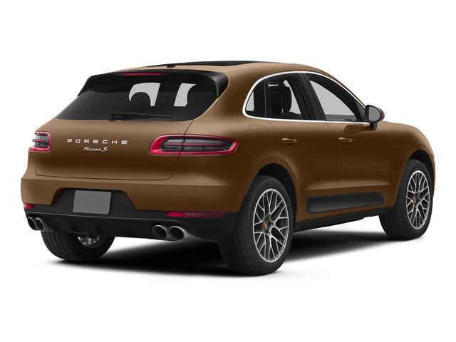 Aurum Metallic 2015 Porsche Macan Pictures Macan Utility 4D AWD V6 Turbo photos rear view