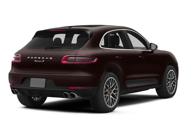 Mahogany Metallic 2015 Porsche Macan Pictures Macan Utility 4D AWD V6 Turbo photos rear view
