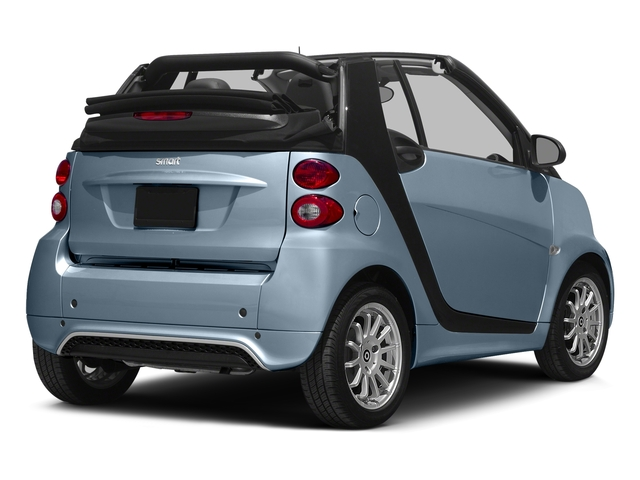 Light Blue Metallic 2015 smart fortwo Pictures fortwo Convertible 2D Passion I3 photos rear view
