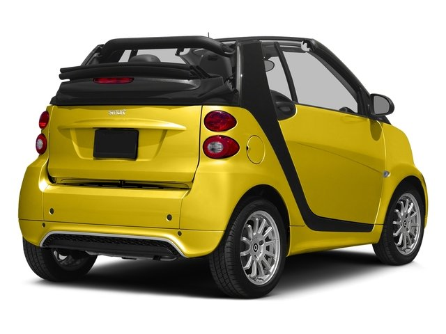 Clear Flame Yellow 2015 smart fortwo Pictures fortwo Convertible 2D Passion I3 photos rear view