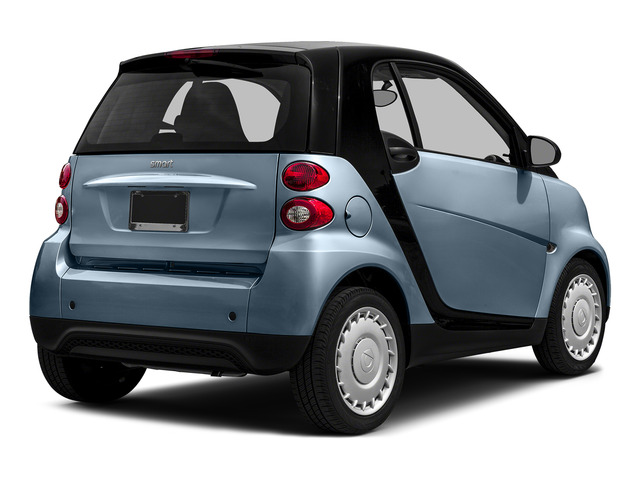 Light Blue Metallic 2015 smart fortwo Pictures fortwo Coupe 2D Pure I3 photos rear view