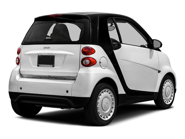 Crystal White 2015 smart fortwo Pictures fortwo Coupe 2D Pure I3 photos rear view