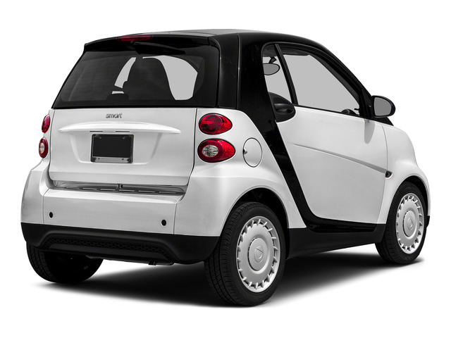 Crystal White 2015 smart fortwo Pictures fortwo Coupe 2D Passion I3 photos rear view