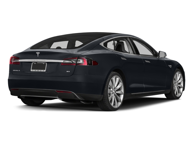 Midnight Silver Metallic 2015 Tesla Motors Model S Pictures Model S Sedan 4D D AWD Electric photos rear view