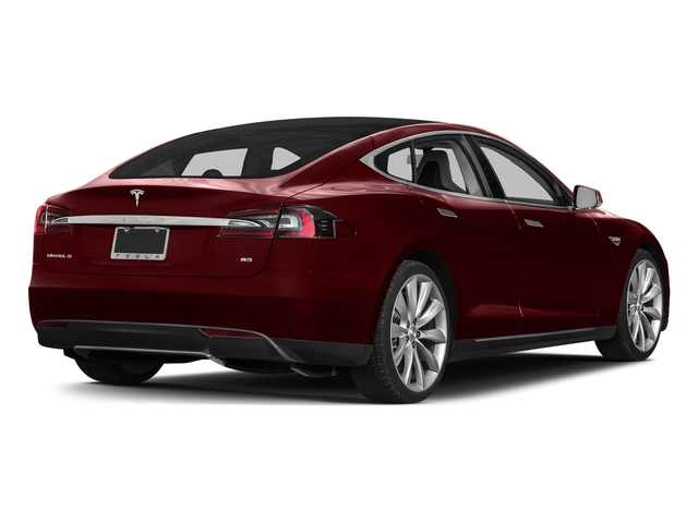 Red Multi-Coat 2015 Tesla Motors Model S Pictures Model S Sedan 4D D AWD Electric photos rear view
