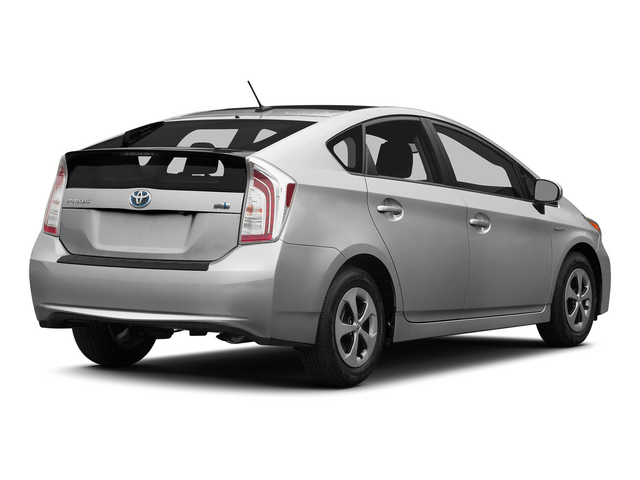 Classic Silver Metallic 2015 Toyota Prius Pictures Prius Liftback 5D Five I4 Hybrid photos rear view
