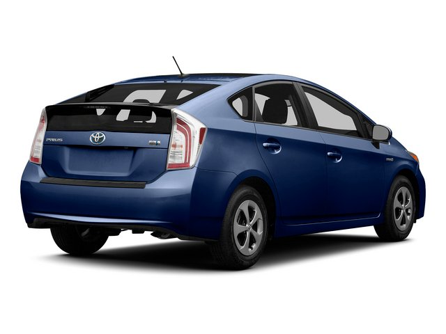 Nautical Blue Metallic 2015 Toyota Prius Pictures Prius Liftback 5D Five I4 Hybrid photos rear view