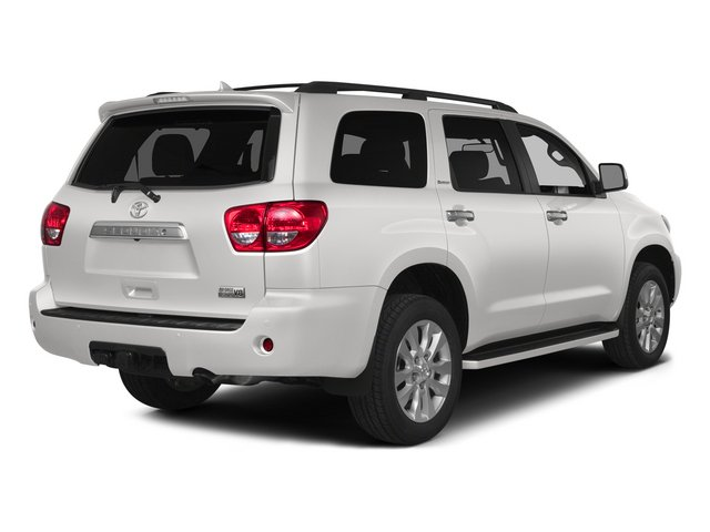 Super White 2015 Toyota Sequoia Pictures Sequoia Utility 4D Limited 2WD V8 photos rear view
