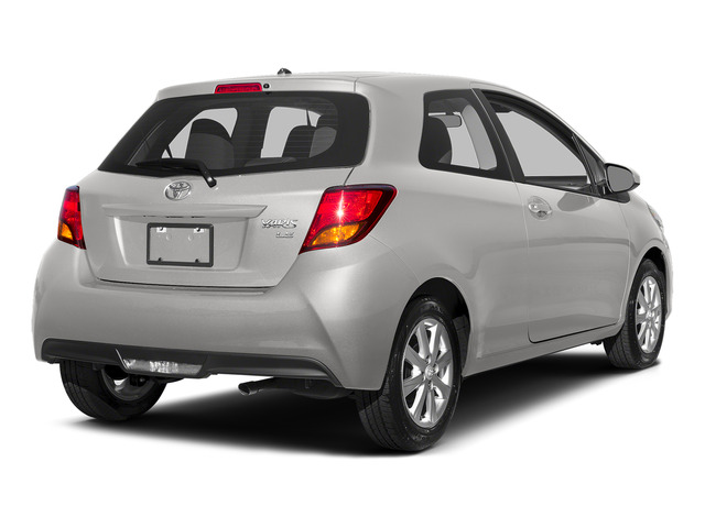 Super White 2015 Toyota Yaris Pictures Yaris Hatchback 3D LE I4 photos rear view