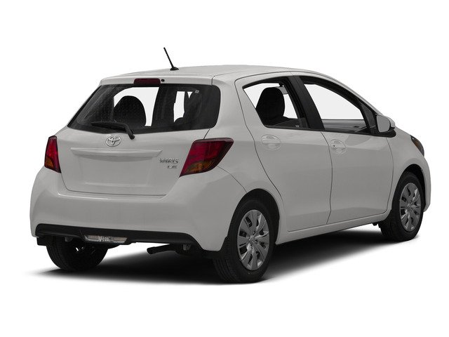 Super White 2015 Toyota Yaris Pictures Yaris Hatchback 5D SE I4 photos rear view