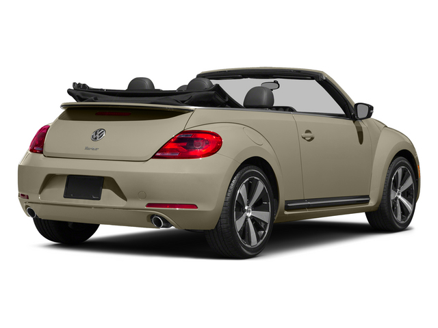 Moonrock Silver Metallic/Black Roof 2015 Volkswagen Beetle Convertible Pictures Beetle Convertible Convertible 2D TDI I4 photos rear view