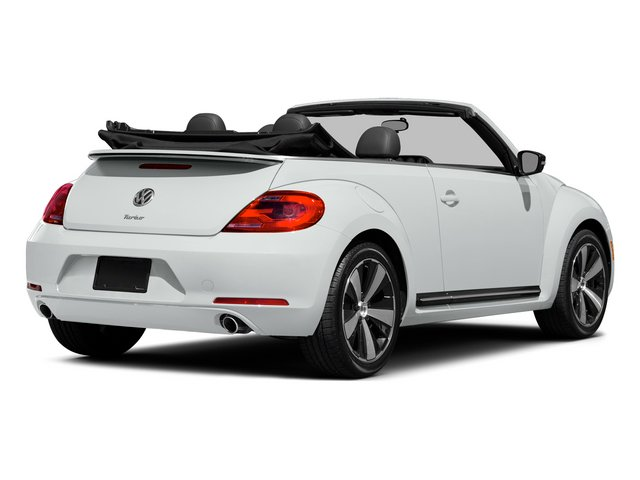 Pure White/Black Roof 2015 Volkswagen Beetle Convertible Pictures Beetle Convertible Convertible 2D TDI I4 photos rear view
