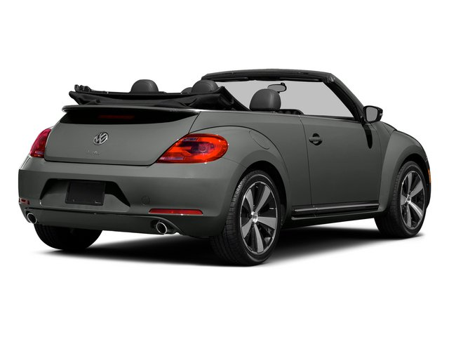 Platinum Gray Metallic/Black Roof 2015 Volkswagen Beetle Convertible Pictures Beetle Convertible Convertible 2D TDI I4 photos rear view