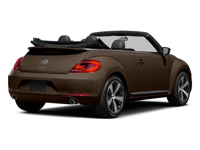 Toffee Brown Metallic/Beige Roof 2015 Volkswagen Beetle Convertible Pictures Beetle Convertible Convertible 2D TDI I4 photos rear view