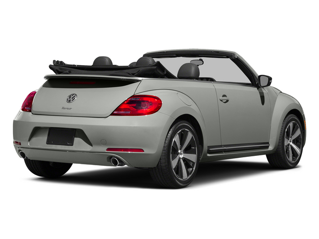 Reflex Silver Metallic/Black Roof 2015 Volkswagen Beetle Convertible Pictures Beetle Convertible Convertible 2D TDI I4 photos rear view