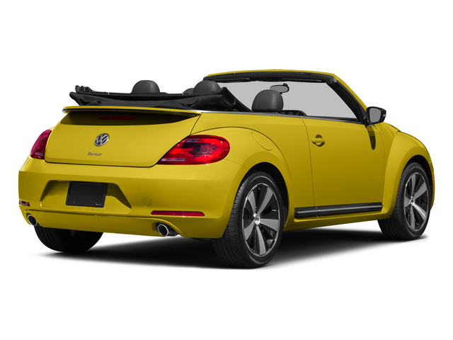 Yellow Rush/Black Roof 2015 Volkswagen Beetle Convertible Pictures Beetle Convertible Convertible 2D TDI I4 photos rear view