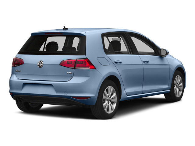 Silk Blue Metallic 2015 Volkswagen Golf Pictures Golf Hatchback 4D SEL I4 Turbo photos rear view