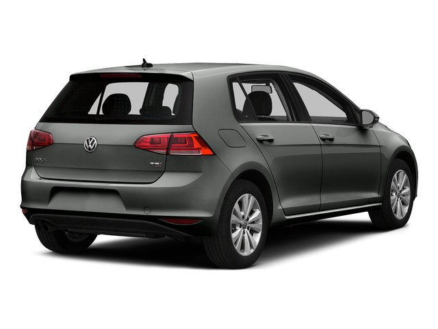 Platinum Gray Metallic 2015 Volkswagen Golf Pictures Golf Hatchback 4D SEL I4 Turbo photos rear view