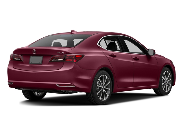 Basque Red Pearl II 2016 Acura TLX Pictures TLX Sedan 4D Technology V6 photos rear view