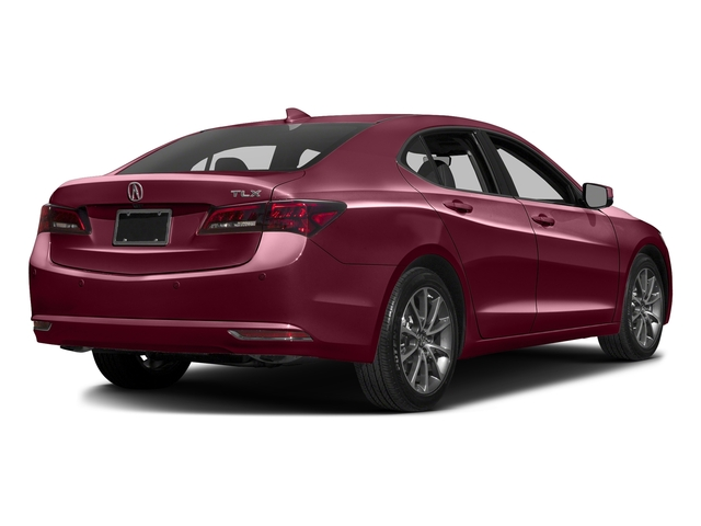 Basque Red Pearl II 2016 Acura TLX Pictures TLX Sedan 4D Advance V6 photos rear view