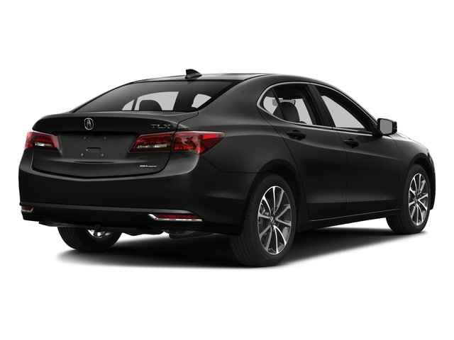 Crystal Black Pearl 2016 Acura TLX Pictures TLX Sedan 4D Technology AWD V6 photos rear view