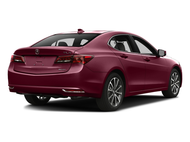 Basque Red Pearl II 2016 Acura TLX Pictures TLX Sedan 4D Technology AWD V6 photos rear view