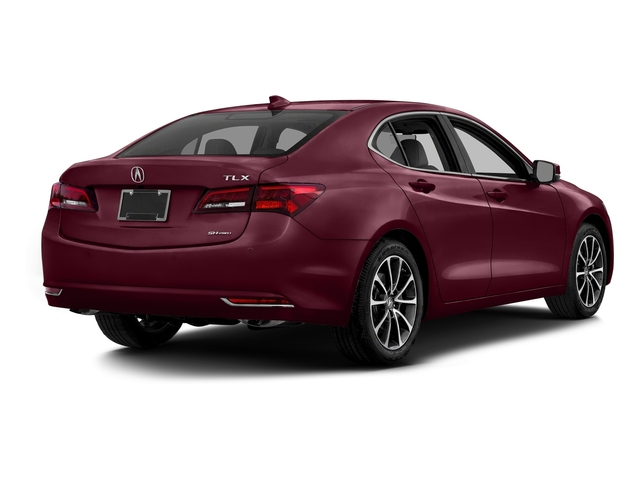Basque Red Pearl II 2016 Acura TLX Pictures TLX Sedan 4D Advance AWD V6 photos rear view