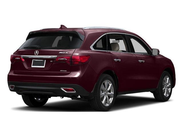 Dark Cherry Pearl 2016 Acura MDX Pictures MDX Utility 4D Advance AWD V6 photos rear view