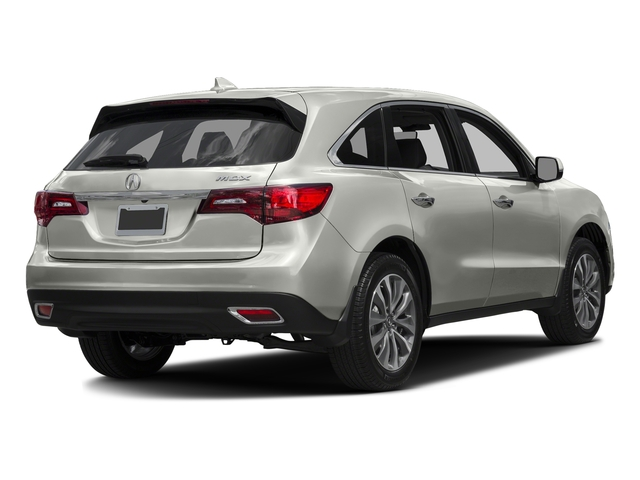Lunar Silver Metallic 2016 Acura MDX Pictures MDX Utility 4D Technology DVD 2WD V6 photos rear view