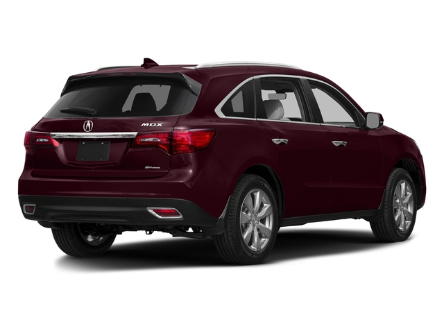 Dark Cherry Pearl 2016 Acura MDX Pictures MDX Utility 4D Advance DVD 2WD V6 photos rear view