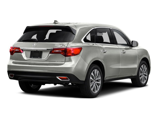 Lunar Silver Metallic 2016 Acura MDX Pictures MDX Utility 4D Technology DVD AWD V6 photos rear view