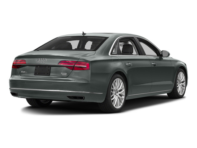 Monsoon Gray Metallic 2016 Audi A8 L Pictures A8 L Sedan 4D 3.0T L AWD V6 Supercharged photos rear view