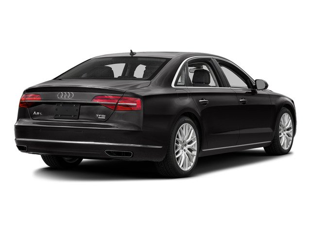 Oolong Gray Metallic 2016 Audi A8 L Pictures A8 L Sedan 4D 3.0T L AWD V6 Supercharged photos rear view